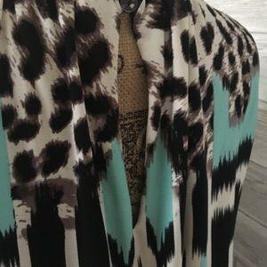 Roz & Ali Dresses - Travel knit patterned maxi sundress